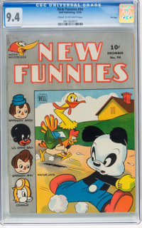 New Funnies #94 File Copy (Dell, 1944) CGC NM 9.4 Cream to off-white pages
