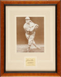 "Autographs:Others, Circa 1929 Jimmie Foxx ""Athletics"" Signed Cut Signature...."