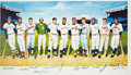 Baseball Collectibles:Others, 500 Home Run Club Multi-Signed Lithograph....