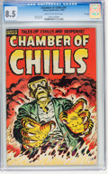 Golden Age (1938-1955):Horror, Chamber of Chills #25 File Copy (Harvey, 1954) CGC VF+ 8.5 Cream tooff-white pages....