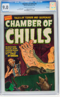 Golden Age (1938-1955):Horror, Chamber of Chills #16 File Copy (Harvey, 1953) CGC VF/NM 9.0 Creamto off-white pages....