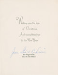 Autographs:Others, Gil Hodges Signed Christmas Card. ...