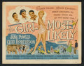 """Movie Posters:Comedy, The Girl Most Likely (Universal, 1957 and R-1961). Title Lobby Card (11"""" X 14"""") and Stills (3) (8"""" X 10""""). Comedy.. ... (Total: 4 Items)"""