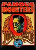 "Movie Posters:Horror, Famous Monsters of Filmland 100th Issue (Warren Publications, 1973). Poster (20"" X 28""). Horror.. ..."