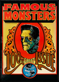 "Famous Monsters of Filmland 100th Issue (Warren Publications, 1973). Poster (20"" X 28""). Horror"