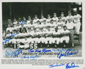 Autographs:Photos, 1955 Brooklyn Dodgers Multi-Signed Photograph. ...