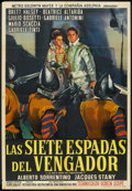 "Movie Posters:Adventure, Seventh Sword (MGM, 1963). Argentinean Poster (29"" X 43""). Adventure.. ..."