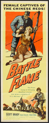 "Battle Flame (Allied Artists, 1959). Insert (14"" X 36""). War"