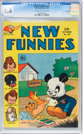 Golden Age (1938-1955):Humor, New Funnies #92 File Copy (Dell, 1944) CGC NM 9.4 Cream to off-white pages....