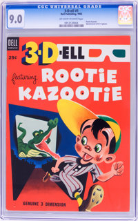 3-D-ell #1 Rootie Kazootie. (Dell, 1953) CGC VF/NM 9.0 Off-white to white pages