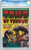 Golden Age (1938-1955):Horror, Tomb of Terror #8 File Copy (Harvey, 1953) CGC VF 8.0 Cream tooff-white pages....