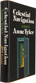 Books:First Editions, Anne Tyler. Celestial Navigation. New York: Alfred A. Knopf,1974. First edition. Publisher's goldenrod cloth. Top e...