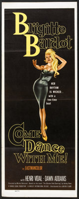 """Come Dance With Me! (Kingsley International, 1960). Insert (14"""" X 36""""). Mystery"""