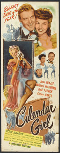 """Movie Posters:Musical, Calendar Girl (Republic, 1947). Insert (14"""" X 36"""") and Title LobbyCard (11"""" X 14"""") . Musical.. ... (Total: 2 Items)"""