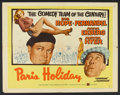 "Movie Posters:Comedy, Paris Holiday Lot (United Artists, 1958). Half Sheet (22"" X 28"") Style B, Title Lobby Card and Lobby Card (11"" X 14""). Comed... (Total: 3 Items)"