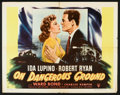 "Movie Posters:Film Noir, On Dangerous Ground (RKO, 1951). Half Sheet (22"" X 28"") Style A. Film Noir.. ..."