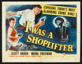 """Movie Posters:Crime, I Was a Shoplifter (Universal International, 1950). Half Sheet (22"""" X 28"""") Style B. Crime.. ..."""