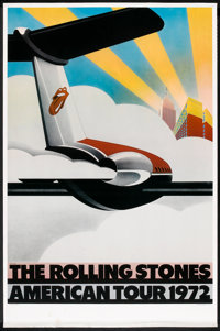 "The Rolling Stones American Tour 1972 (Sunday Promotions, 1972). One Sheet (27"" X 41""). Rock and Roll"
