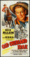 """Movie Posters:Western, Old Overland Trail (Republic, 1953). Three Sheet (41"""" X 81""""). Western.. ..."""