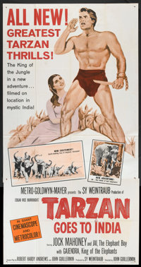 "Tarzan Goes to India (MGM, 1962). Three Sheet (41"" X 81""). Adventure"
