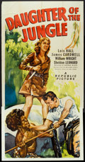 "Movie Posters:Adventure, Daughter of the Jungle (Republic, 1949). Three Sheet (41"" X 81""). Adventure.. ..."