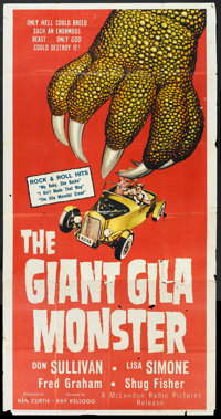 "The Giant Gila Monster (McLendon Radio Pictures, 1959). Three Sheet (41"" X 81""). Horror"