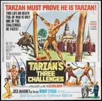 "Tarzan's Three Challenges (MGM, 1963). Six Sheet (81"" X 81""). Adventure"