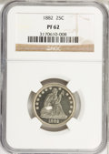 Proof Seated Quarters, 1882 25C PR62 NGC. NGC Census: (22/212). PCGS Population (45/207).Mintage: 1,100. Numismedia Wsl. Price for NGC/PCGS coin ...