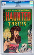 Golden Age (1938-1955):Horror, Haunted Thrills #1 (Farrell, 1952) CGC VF 8.0 White pages....