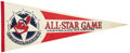 Baseball Collectibles:Others, 1981-83 Baseball All-Star Game Pennants Lot of 3....