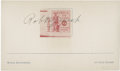 Golf Collectibles:Autographs, 1942 Bobby Jones Signed Index Card....
