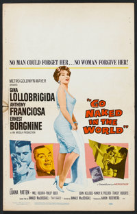 """Go Naked in the World Lot (MGM, 1961). Window Card (14"""" X 22""""), Lobby Cards (4) (11"""" x 14"""") & Co..."""