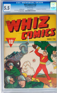 Whiz Comics #3 (#2) (Fawcett, 1940) CGC FN- 5.5 Off-white pages