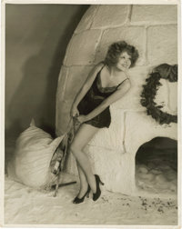 """Clara Bow by Don English (Paramount, Late 1920s). Full-Length Portrait (11"""" X 13.75"""")"""
