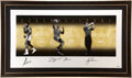 Boxing Collectibles:Autographs, 2008 Muhammad Ali, Michael Jordan & Tiger Woods Signed UDALithograph....