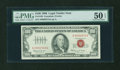 Small Size:Legal Tender Notes, Fr. 1550 $100 1966 Legal Tender Note with low number. PMG About Uncirculated 50 EPQ.. ...