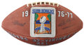Football Collectibles:Others, 1977 Super Bowl XI Game Used Football....