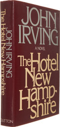 Books:First Editions, John Irving. The Hotel New Hampshire. New York: E. P.Dutton, [1981]. First edition. Publisher's white cloth over pa...