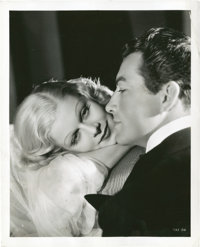 """Jean Harlow and Robert Taylor in """"Personal Property"""" by Ted Allan (MGM, 1937). Portrait (8"""" X 10"""")..."""