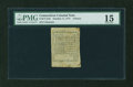 Colonial Notes:Connecticut, Connecticut October 11, 1777 4d Cut Cancel PMG Choice Fine 15....
