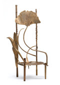 "Furniture : French, PROPERTY FROM A TEXAS COLLECTION. CLAUDE LALANNE . ""Trône dePauline"" A Gilt Bronze Chair, Paris, France, 2000. Marks:C..."