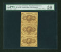 Fractional Currency:First Issue, Fr. 1230 5c First Issue Vertical Strip of Three PMG Choice About Unc 58....