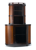 Furniture : Continental, PROPERTY OF A GERMAN COLLECTOR. JOSEF HOFFMANN FOR J&J KOHN,VIENNA. A Parcel Ebonized Stained Mahogany and Birch Cabinet,...(Total: 2 Items)