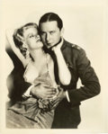 "Movie Posters:War, Jean Harlow and Ben Lyon in ""Hell's Angels"" (United Artists, 1930).Still (8"" X 10"").. ..."