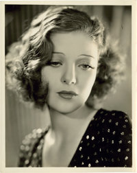 """Loretta Young in """"Taxi"""" by Elmer Fryer (Warner Brothers, 1932). Portrait (8"""" X 10"""")"""