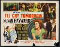 "Movie Posters:Drama, I'll Cry Tomorrow (MGM, 1955). Half Sheet (22"" X 28""), Title Card and Lobby Cards (3) (11"" X 14""), and Stills (4) (11"" X 14""... (Total: 9 Items)"