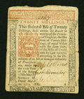 Colonial Notes:Pennsylvania, Pennsylvania March 20, 1771 20s Extremely Fine....