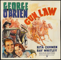 "Gun Law (RKO, 1938). Six Sheet (81"" X 81""). Western"