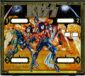 Music Memorabilia:Memorabilia, KISS 1978 Pinball Machine Backglass....