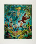 Memorabilia:Comic-Related, Carl Barks The Makings of a Fish Story Regular Edition Lithograph #75/345 (Another Rainbow, 1985).... (Total: 2 Items)